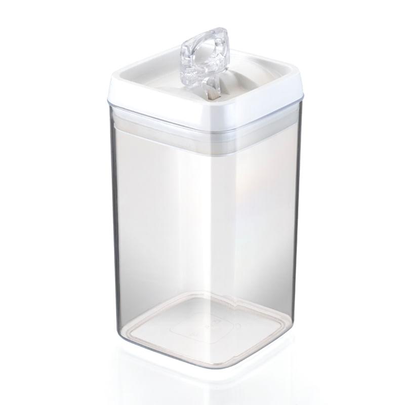 Pote Hermetic Crystal Quadrado Grande Injeplastec