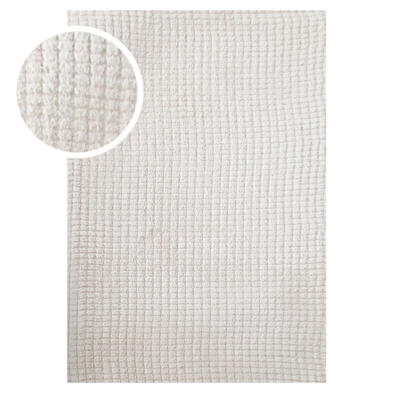 Tapete Chinês Microfibra Tiny Square 2.00X2.50 Creme Abdalla