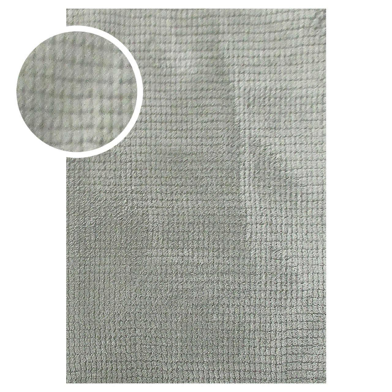 Tapete Chinês Microfibra Tiny Square 1.00X1.40 Verde Abdalla