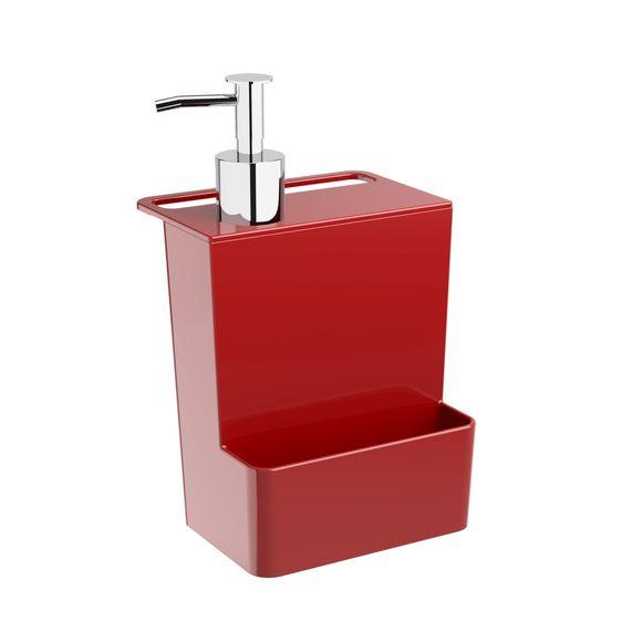 Dispenser-Multi-600Ml-Glass-Vermelho-Bold-Coza