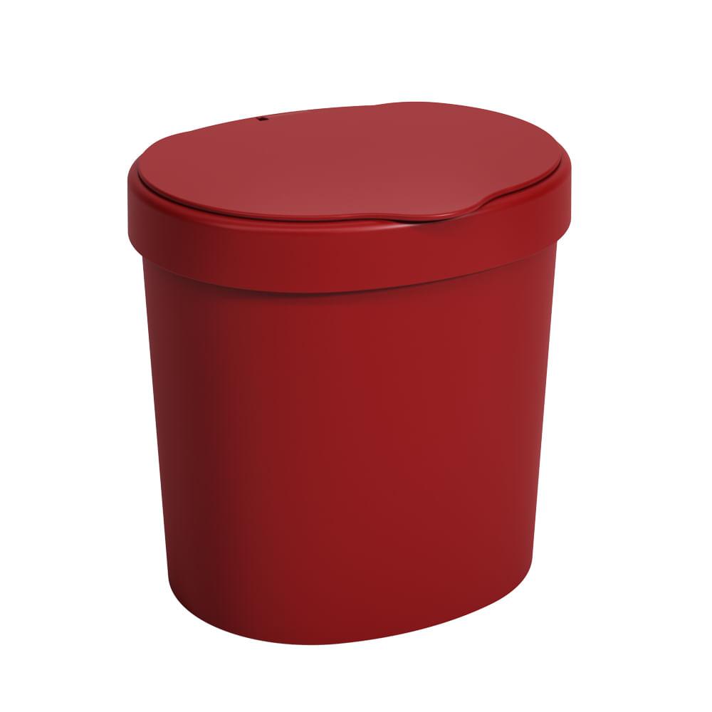 Lixeira Com Tampa Basic 2.5L Vermelho Bold Coza