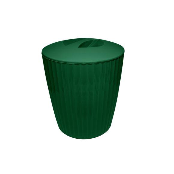 Cesto-De-Lixo-Groove-Verde-Botanico-Fechado-OU
