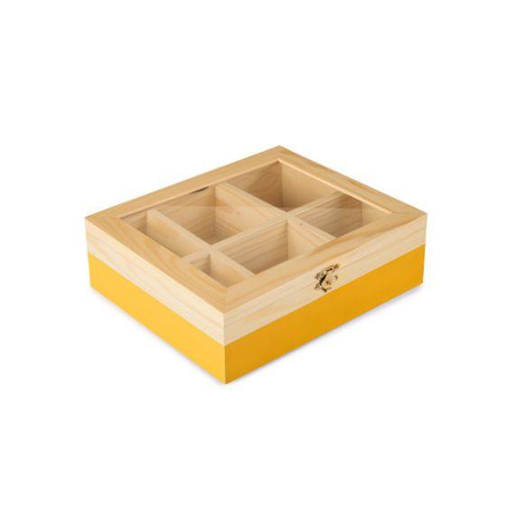 Caixa-P--Cha-6-Compartimentos-Amarelo
