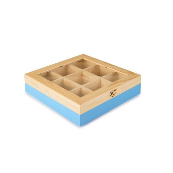 Caixa-P--Cha-9-Compartimentos-Azul