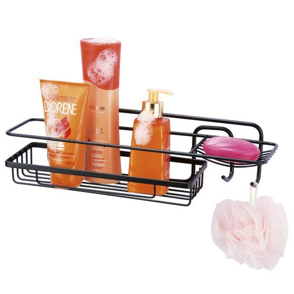 Porta-Shampoo-Retangular-com-Saboneteira-Black-Arthi