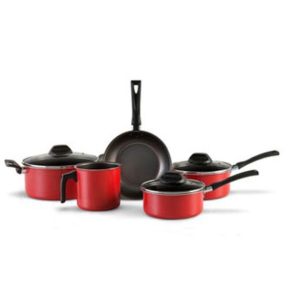 Jogo-De-Panelas-5-Pecas-Aluminio-Garlic-Vermelha-Brinox
