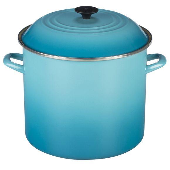 Caldeirao-Stock-Pot-26Cm-Azul-Caribe-Le-Creuset