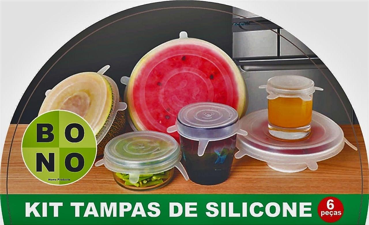 Kit Com 6 Tampas de Silicone Bono