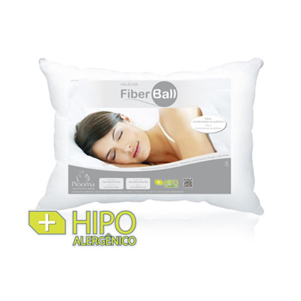 Travesseiro 100% Poliéster Fiber Ball 50X70 Plooma