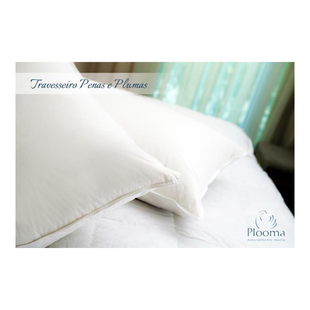 Travesseiro 80% Pena 20% Pluma De Ganso 50X70 Plooma