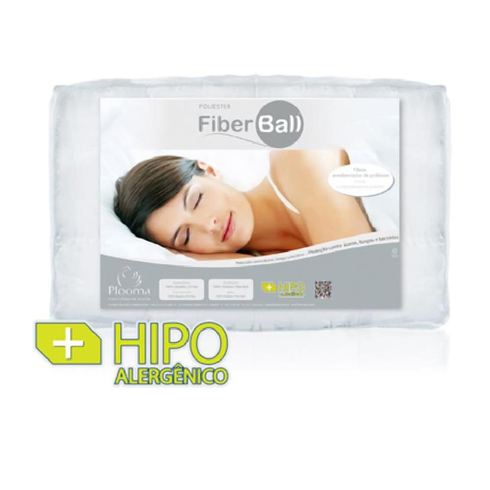 Pillow Top Solteiro 100% Poliéster Fiber Ball Plooma