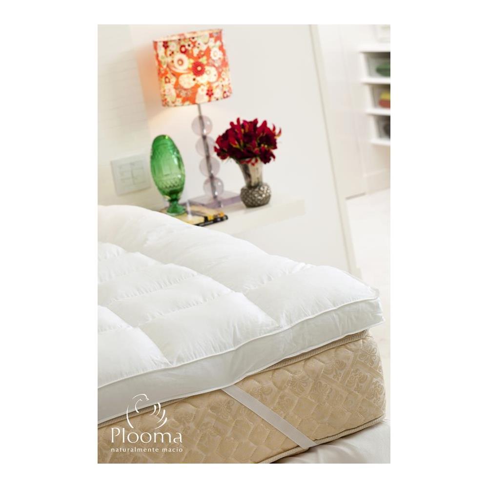 Pillow Top Casal 100% Poliéster Fiber Ball Plooma