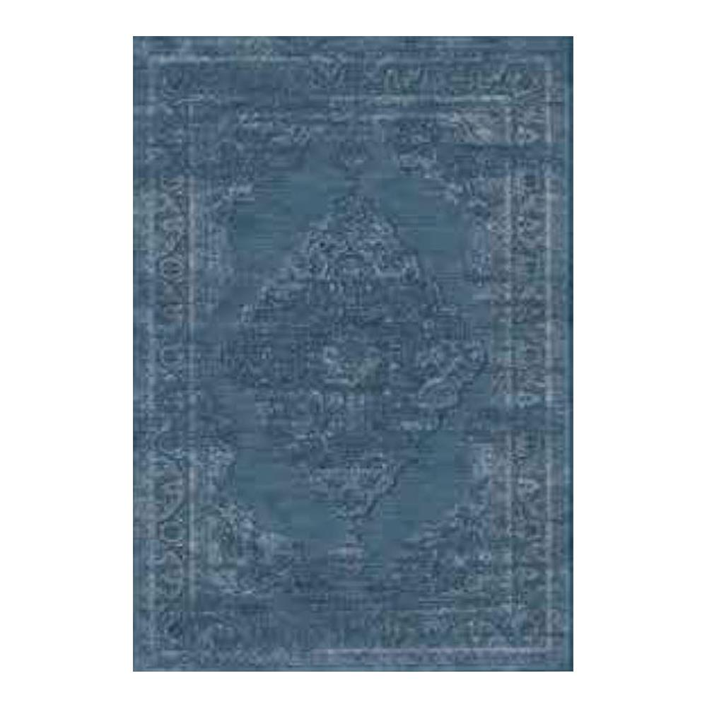 Tapete Belga Tiffany 1.00x1.40 492 Azul Abdalla