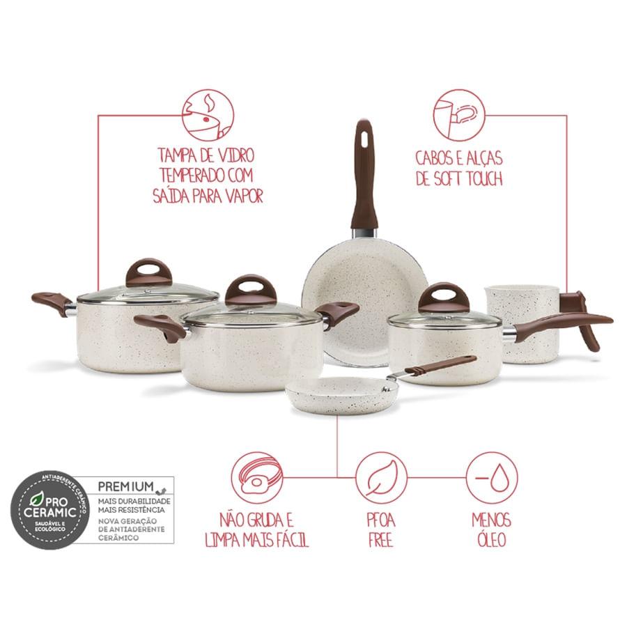 Jogode Panelas 6Pçs Ceramic Life Smart Plus Van Brinox