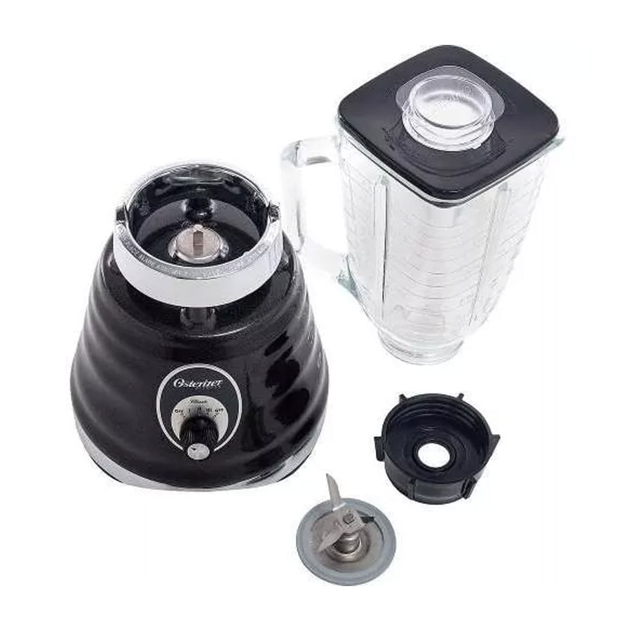 Liquidificador Oster 4655 127V Clássico Preto 600W 3 Velocidades , BLSTBG4655B-017