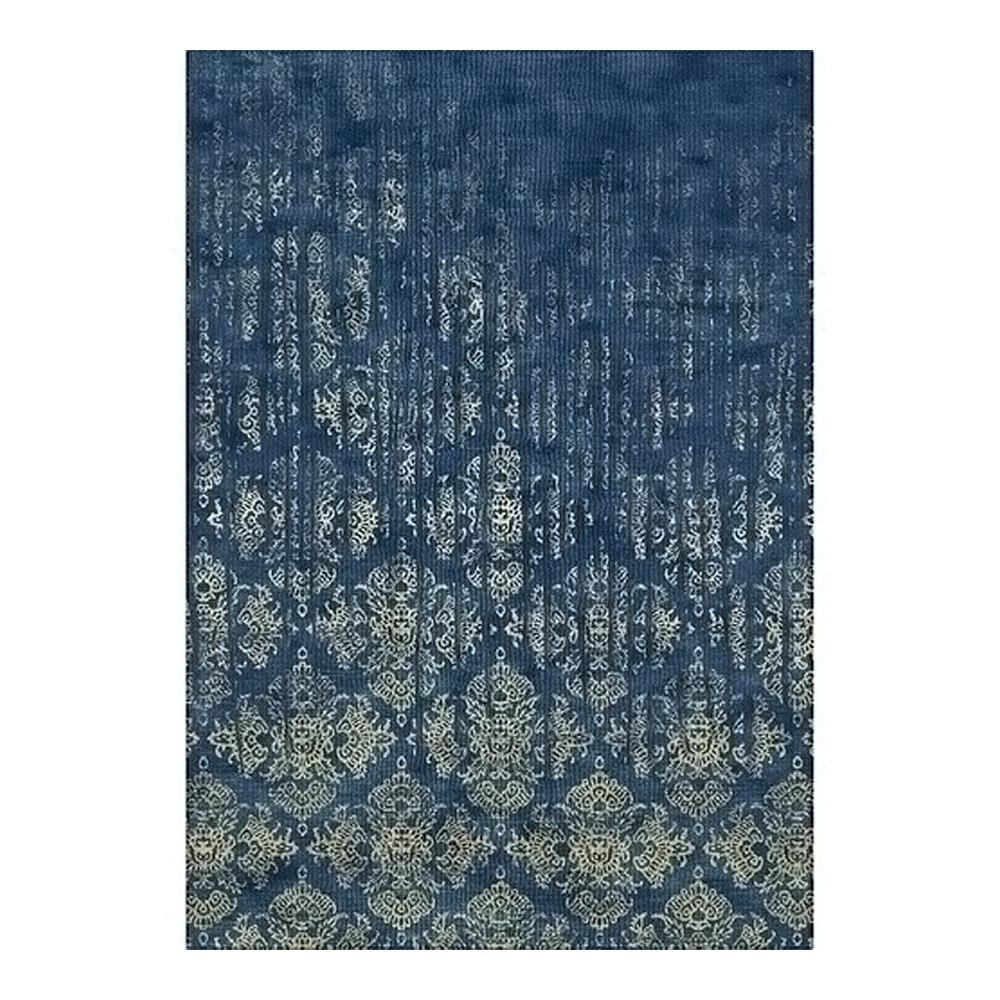 Tapete Belga Vintage 1.40x2.00 89 Azul/Dourado Abdalla