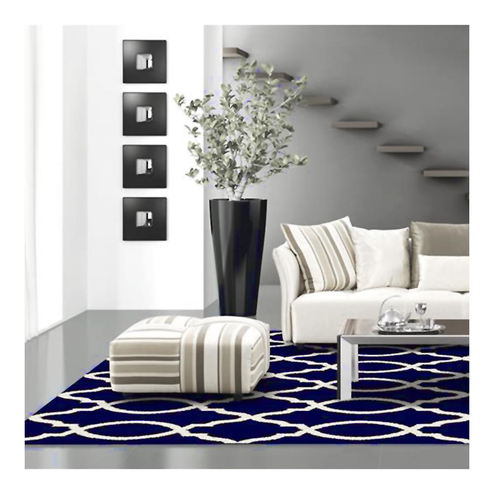 Tapete Egípcio Lotto 1.33x1.90 Azul/Bege 0111-B Abdalla