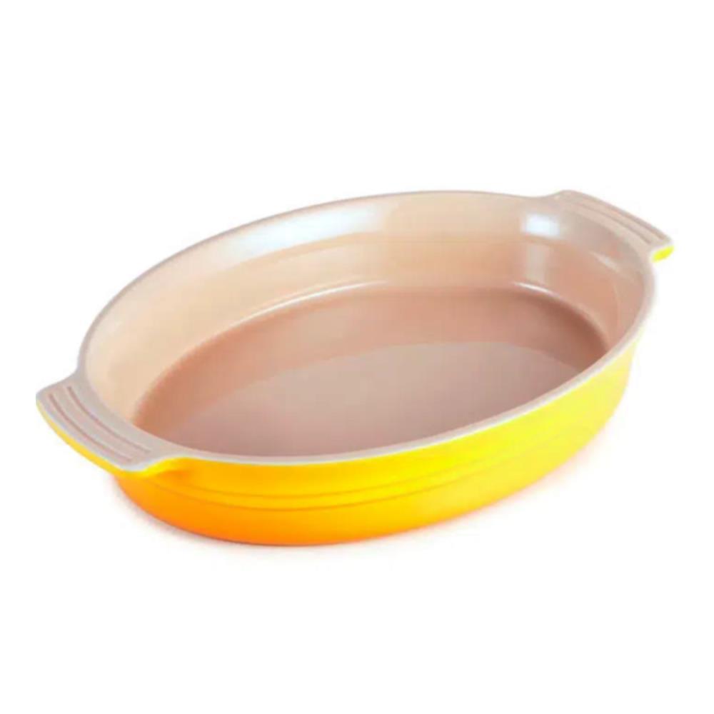 Travessa Oval De Cerâmica 36Cm Amarelo Dijon Le Creuset