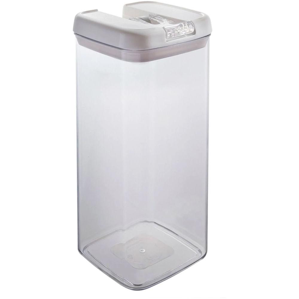 Pote Flip Quadrado 3.1L Transparente 0221/310 Brinox