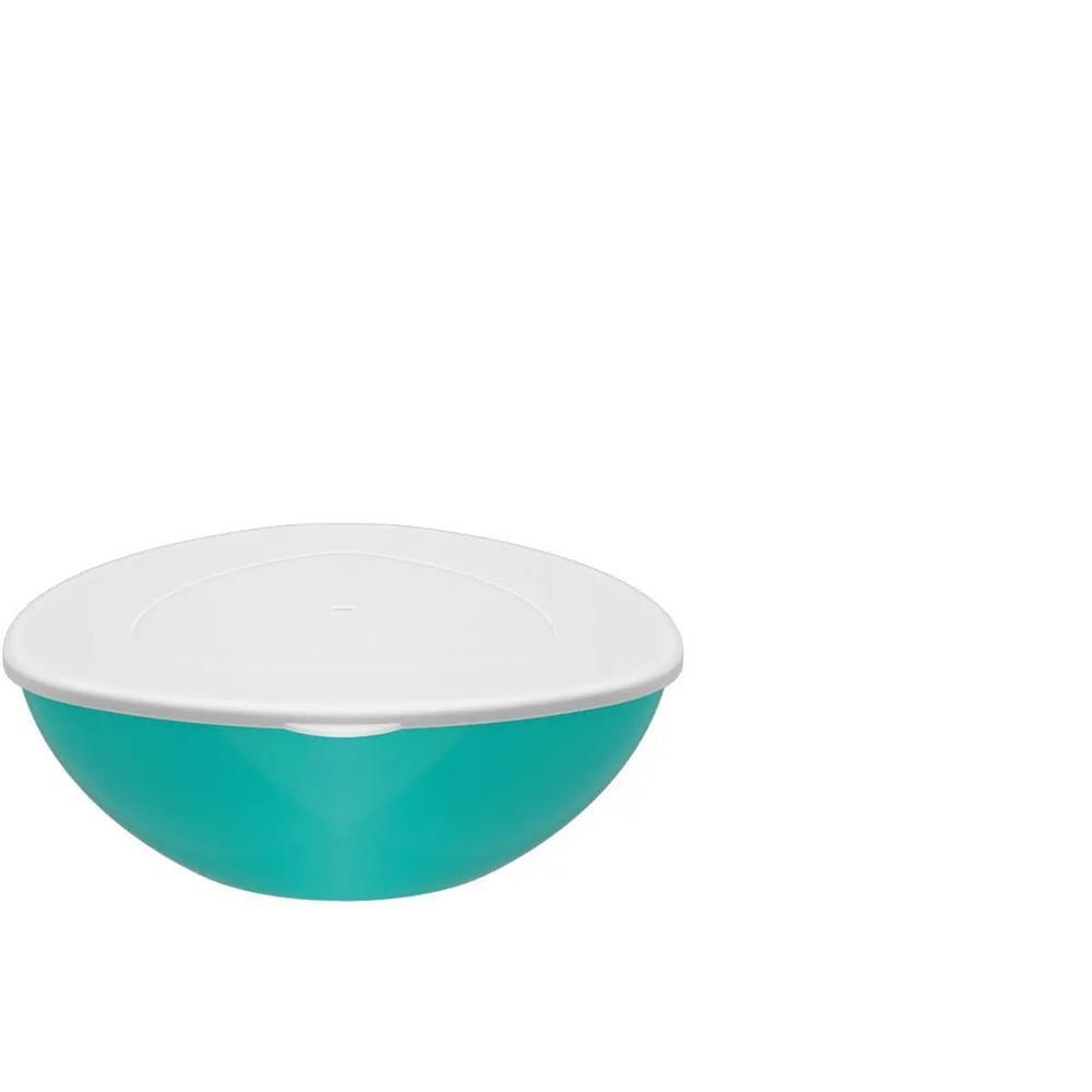 Saladeira Triangular Com Tp Essential 3.5L Vd