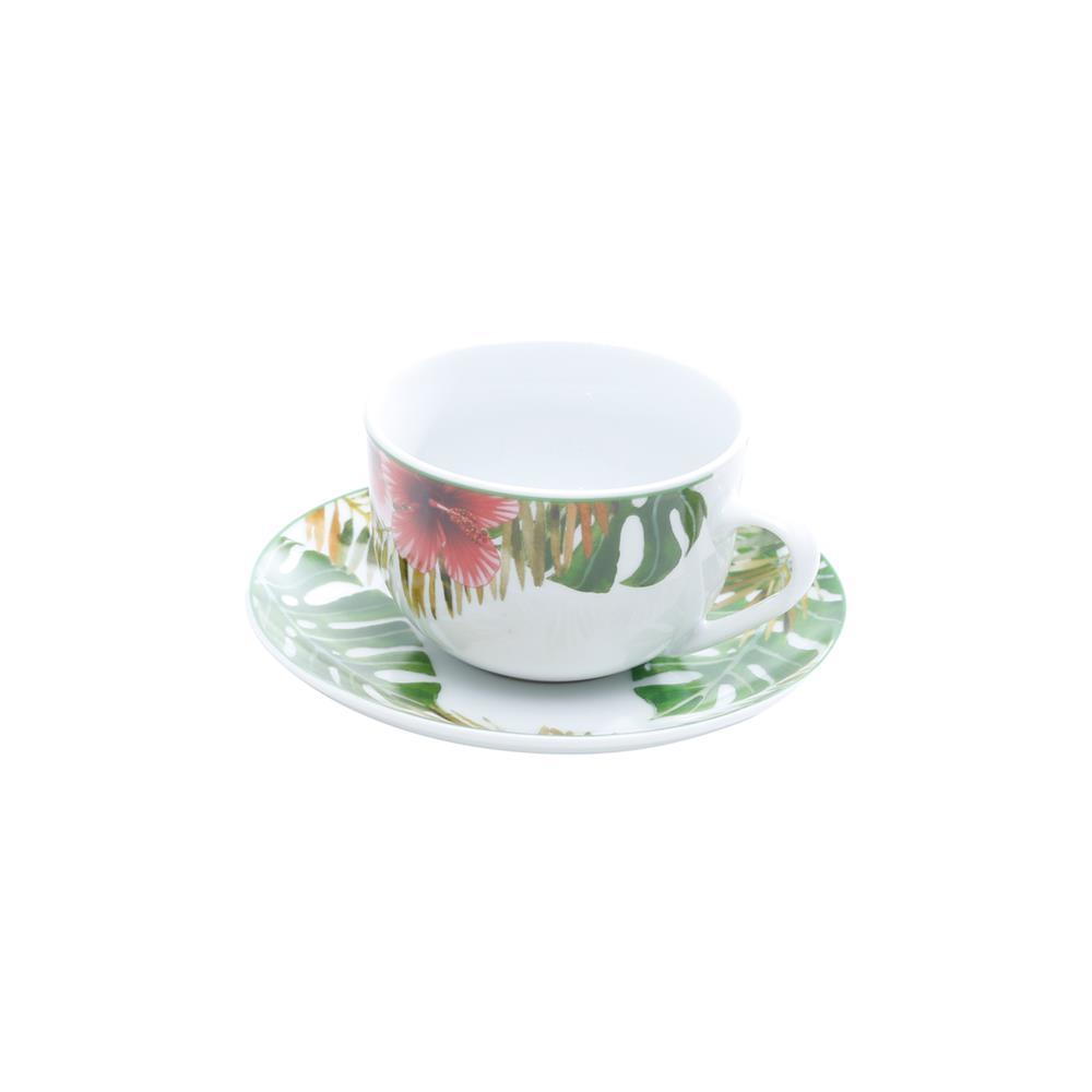 Jogo De 6 Xícaras Para Café Com Pires Super White Amazon 90Ml