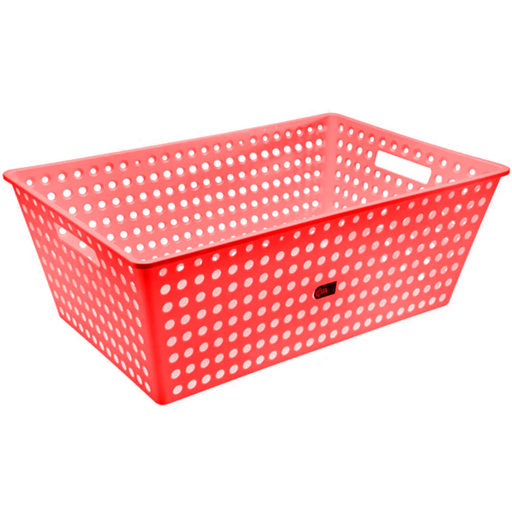 Cestão One 59,5 x 38,8 x 22,3 cm Vermelho Coza