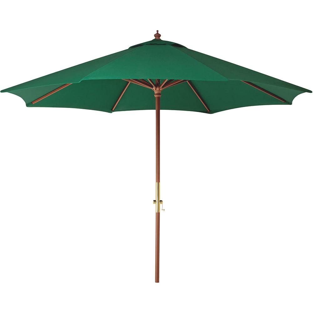 Ombrelone de Madeira e Poliéster de 3,5m Verde 10999055 Tramontina