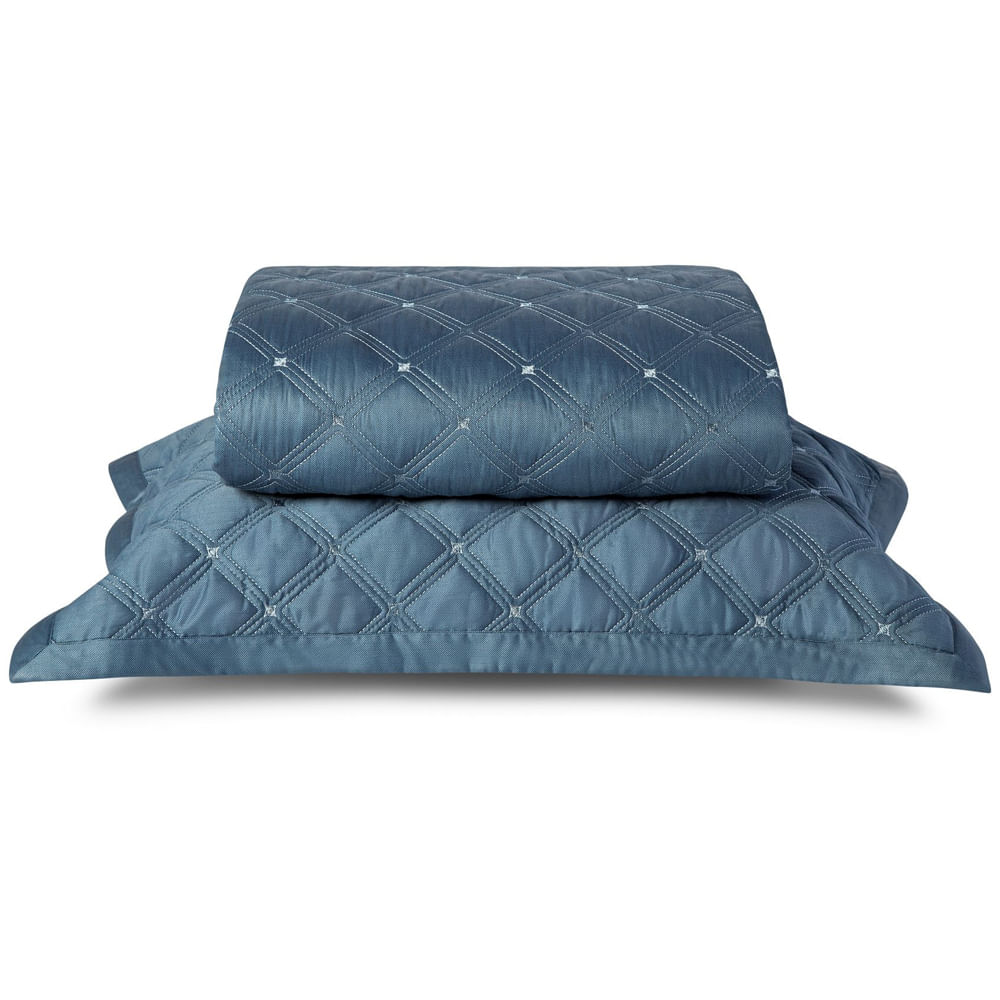 Colcha King 2.60X2.80M 59 St Azul By The Bed