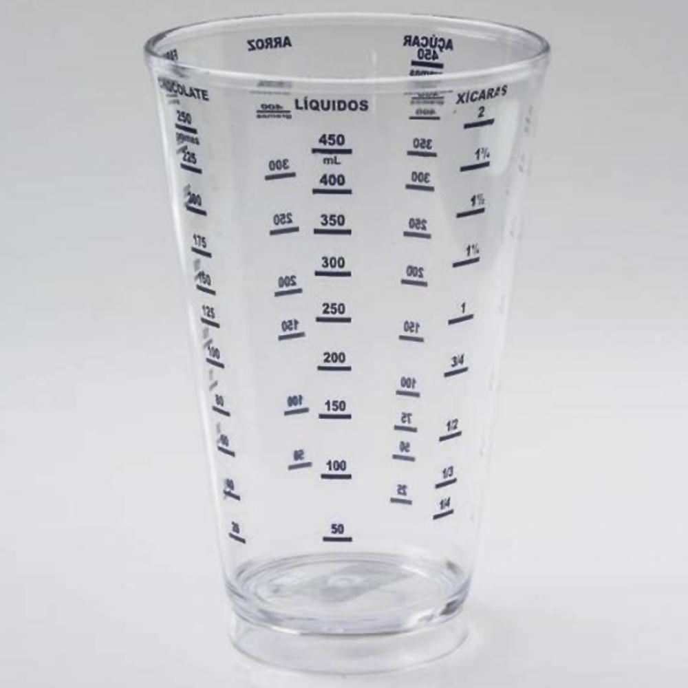 Copo Medidor 550ml Plástico Transparente Alves Plastic
