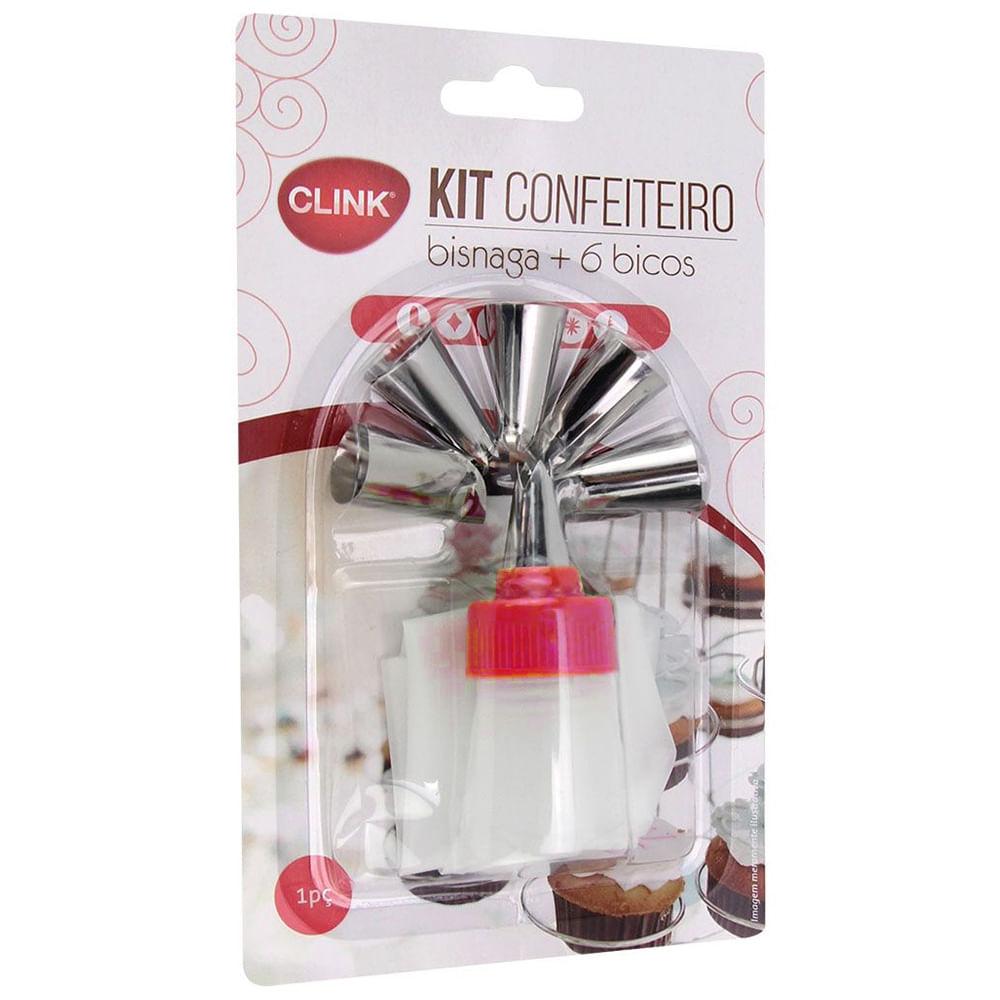 Kit Confeiteiro Inox 6 Bicos Pvc