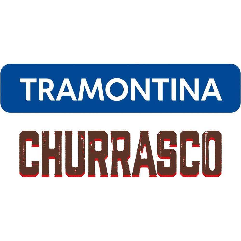 Kit Churrasco Aço Inox Com Cabo De Madeira Natural 15 Peças Tramontia Tramontina