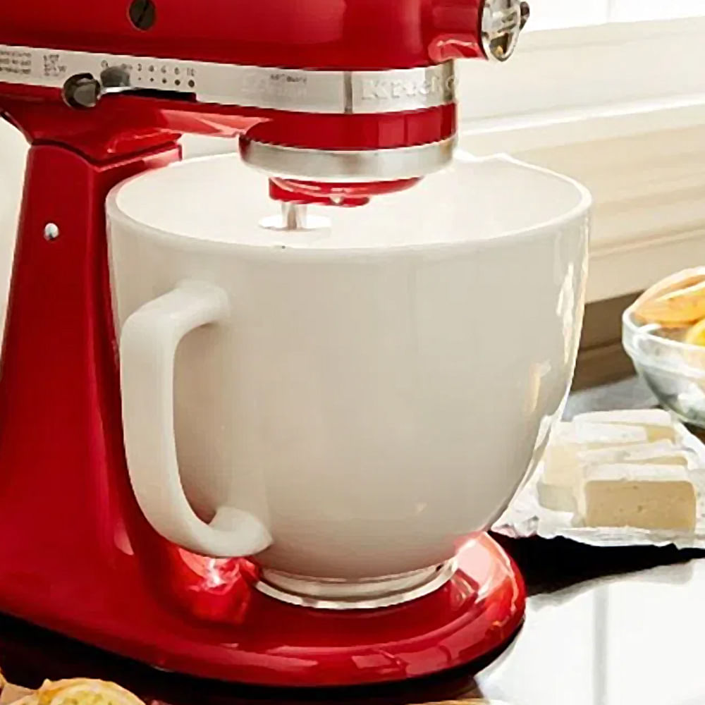 Tigela De Cerâmica 4.8L White Chocolate Para Stand Mixer KitchenAid
