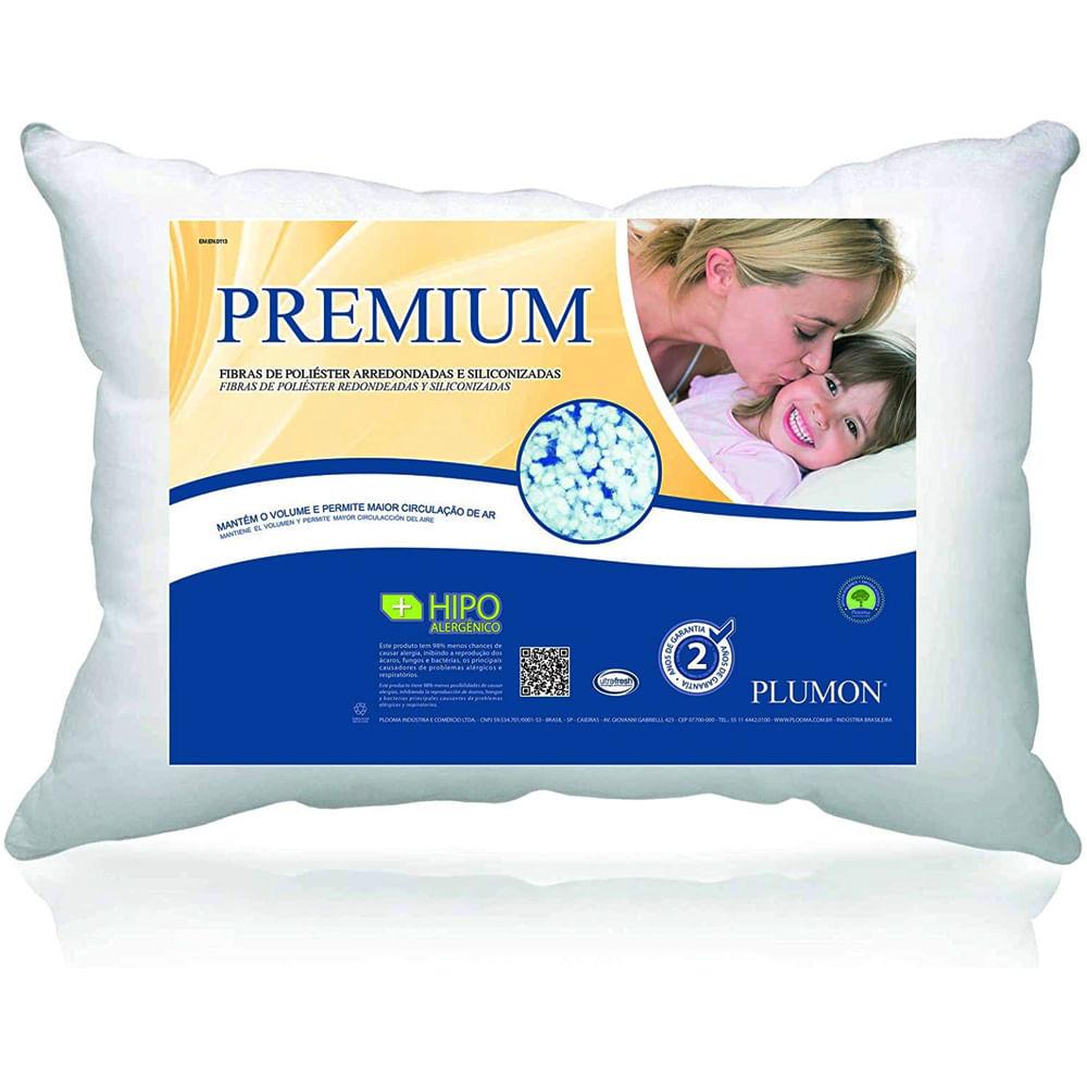 Travesseiro 0.50X0.70 Plumon Premium 100% Poliéster Plooma
