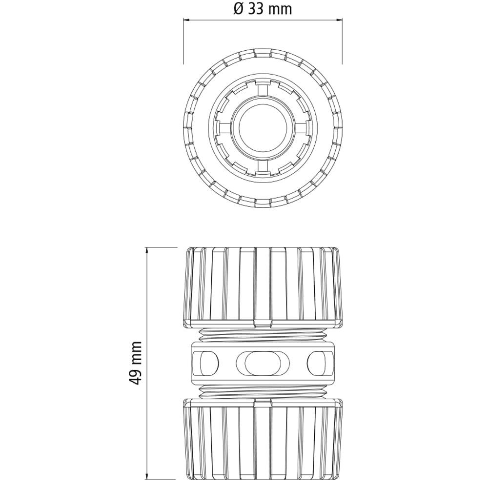 Conector de Plástico Reparador para Mangueira 1/2
