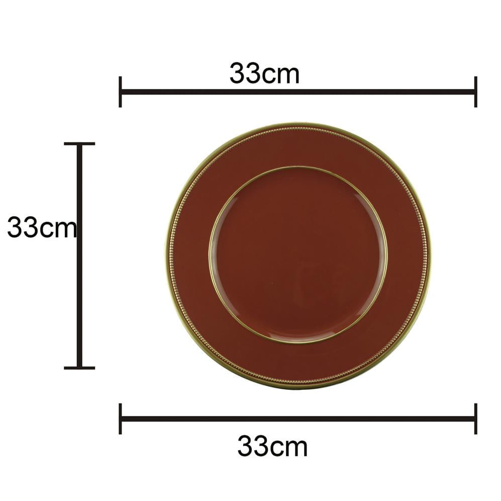 Sousplat Plástico Marsala 33Cm Rojemac
