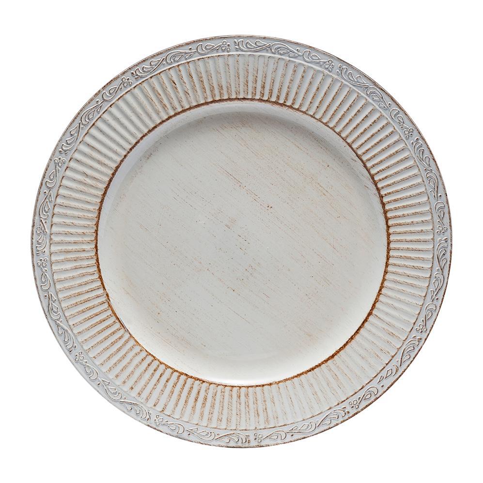 Sousplat Plástico Branco 33Cm Rojemac