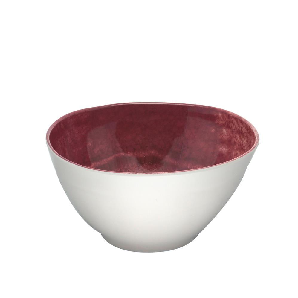 Saladeira Melamina Aqua Vermelho 25X13Cm Rojemac