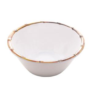 Bowl Melamina Bambu Branco 15X6Cm Rojemac