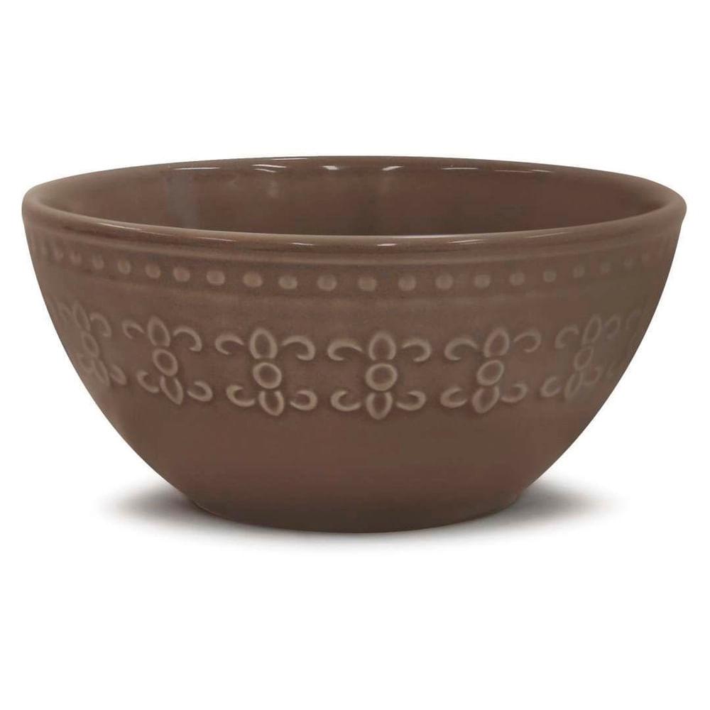 Bowl Cinza 550Ml Relieve Martiplast