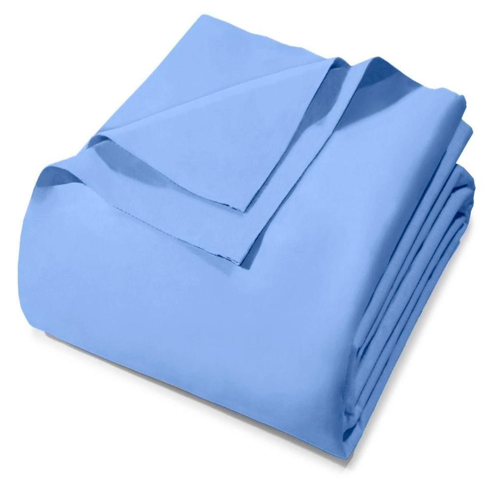 Lençol Royal Plus Com Elastico King Azul 6224 Coteminas