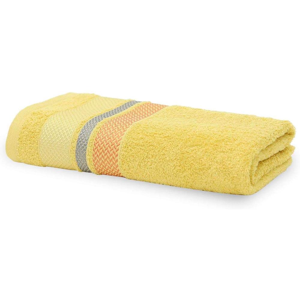 Toalha De Banho Home Design 0.70 X 1.40 M Texture Amarelo 1035 Santista Coteminas