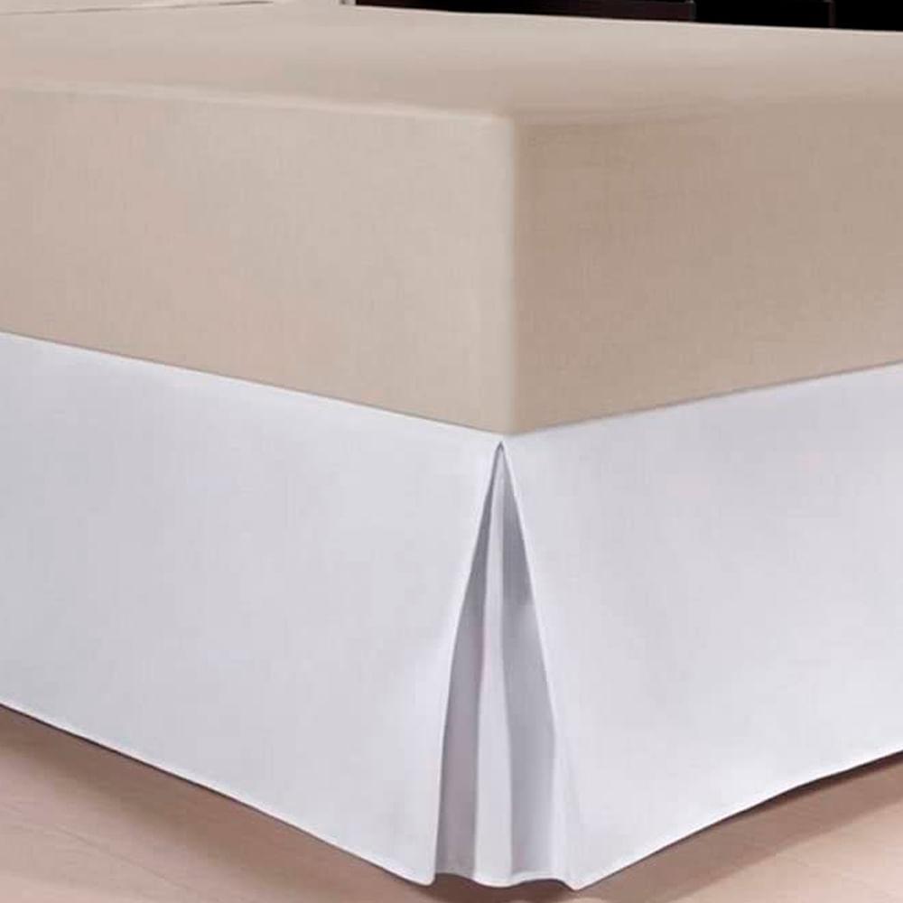 Saia Box Solteiro Plus Branco Kacyumara