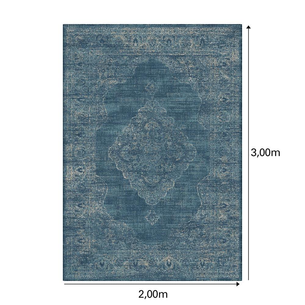 Tapete Belga Harmony Trendy 2X3 9863 Azul  Abdalla