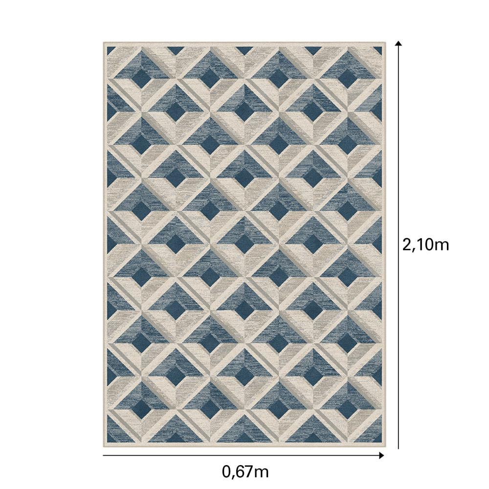Tapete Belga Harmony Trendy 0.67X2.1 9889 Azul/Cinza  Abdalla