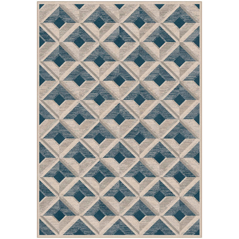 Tapete Belga Harmony Trendy 1.4X2 9889 Azul/Cinza  Abdalla