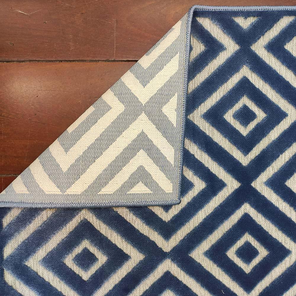 Tapete Egípcio Ecenze 2.00X2.50 Diamond Azul 1330-E  Abdalla
