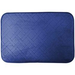 Tapete-De-Banheiro-Verona-0.40X0.60-Macio-Azul-Escuro-Square-Buchara-x01