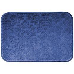 Tapete-De-Banheiro-Verona-0.40X0.60-Macio-Azul-Escuro-Floral-Buchara-x01