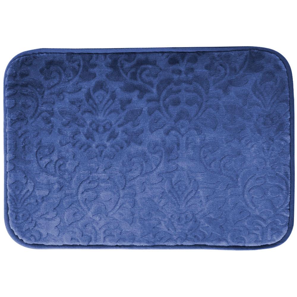 Tapete Verona 0.40X0.60 Azul Escuro Floral Buchara